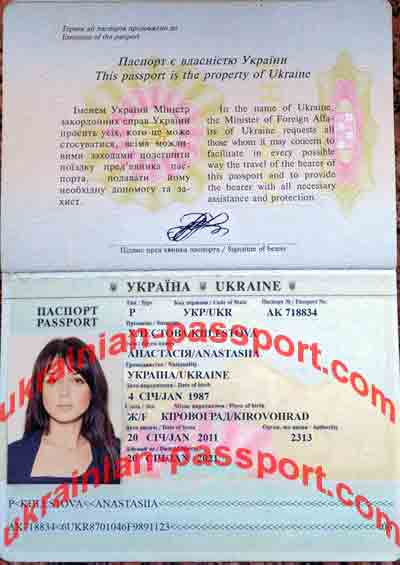 ukraine passport to check lady name
