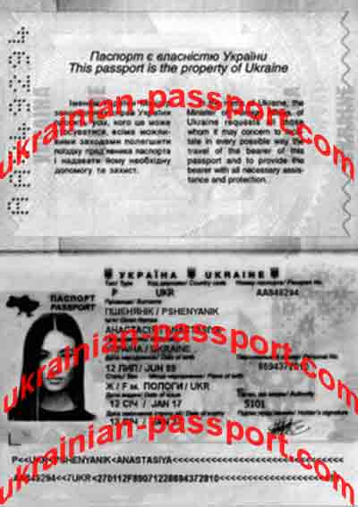 copy of a passport for evaluation