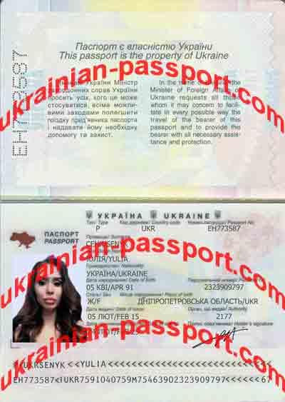ukrainian passport to check