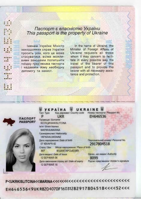 fake ukrainian passport dating scam