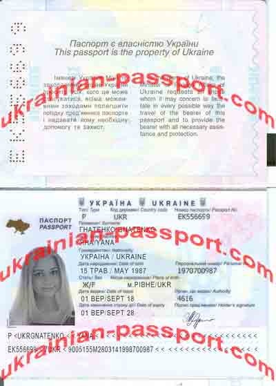 yana gnatenko fake passport