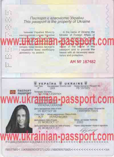 Fake ukrainian passport