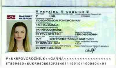 verify ukrainian passport Povorozniuk