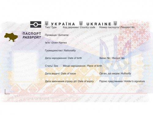 ukrainian passport template