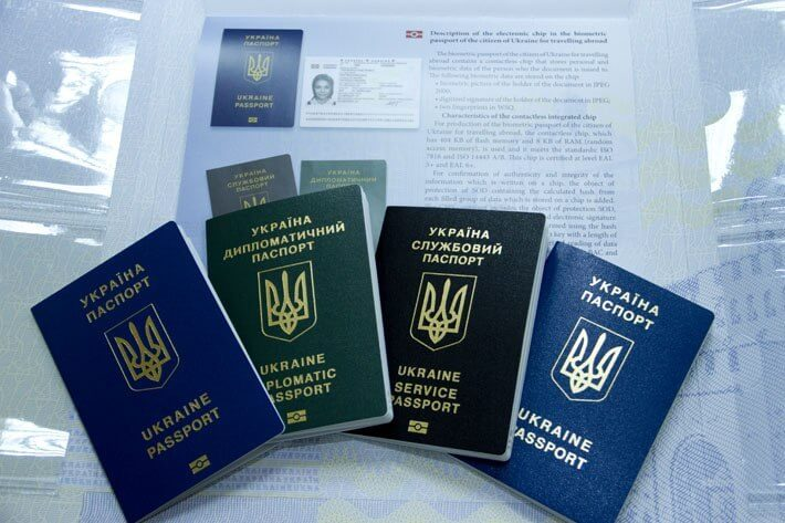 types of ukrainian passport internal external