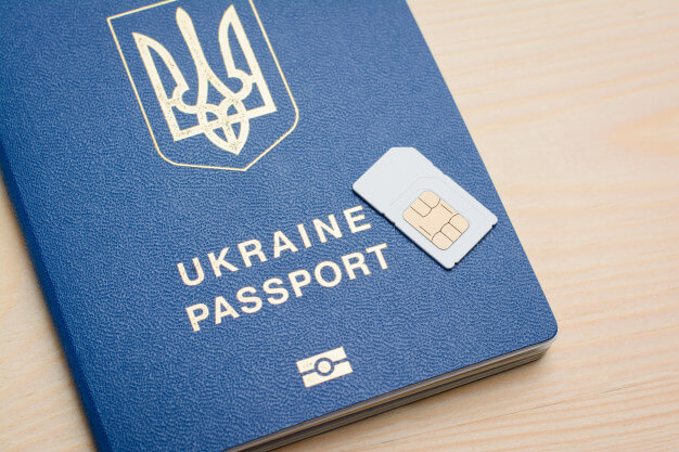 You don't need a passport to register a new SIM card in Ukraine