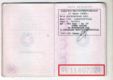 Russia passport number